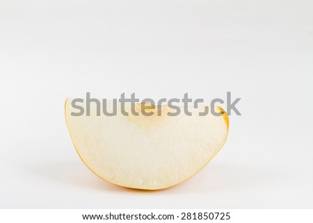 Chinese pear isolated on white background - stock photo