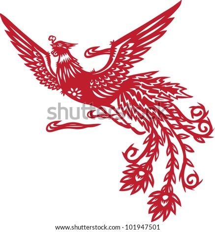 Chinese phoenix - stock photo