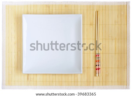 Chinese plate - stock photo