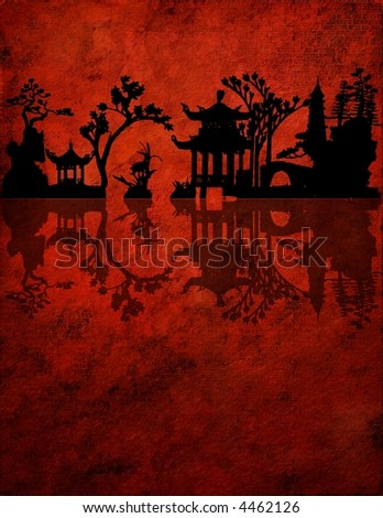 Chinese Red Composition - stock photo