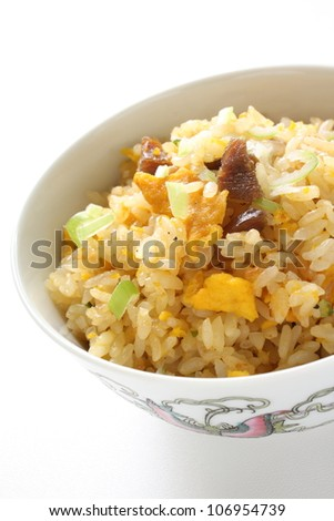 Chinese roasted pork and egg fried rice