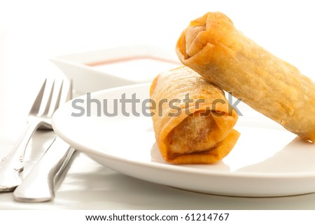 chinese roll - stock photo