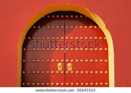 Chinese Royal Red Gates - stock photo