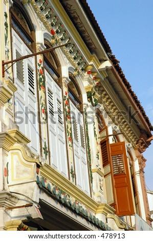 Chinese Shophouse in Melaka - stock photo