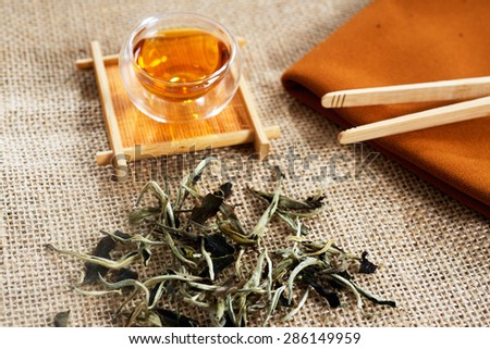 Chinese silver tea from province of China - stock photo