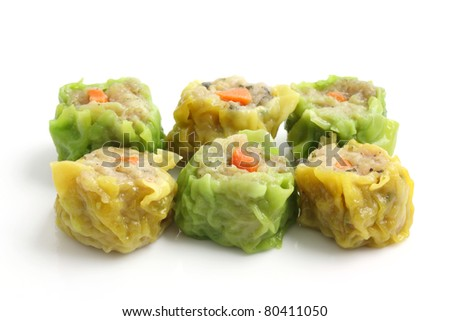 Chinese snacks isolated in white background - stock photo