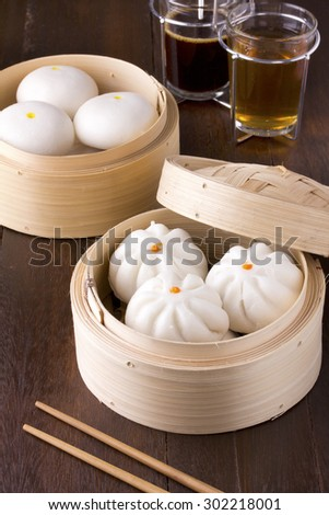 chinese steamed buns - stock photo
