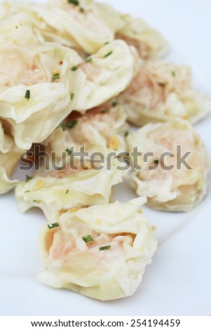 Chinese steamed dumplings - stock photo