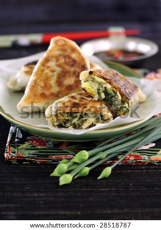 chinese stuffed pastry with chives