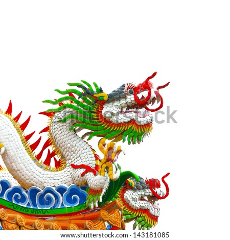 Chinese style dragon statue