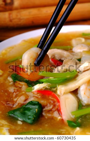 chinese style noodle - malaysian food - stock photo
