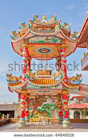 Rooftop Decoration Luermen Matsu Temple Tainan Stock Photo