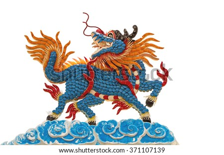 Chinese style roof decoration isolate on white background