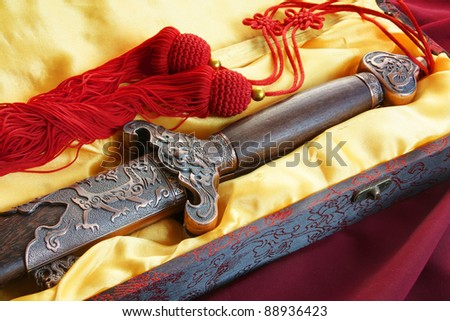 Chinese sword for fitness dancing - stock photo