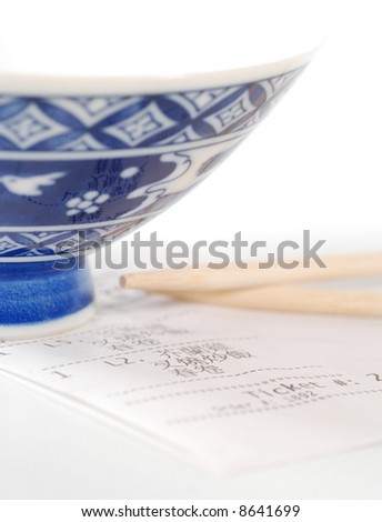 chinese take-out with receipt