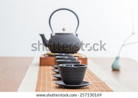 Chinese tea ceremony - stock photo