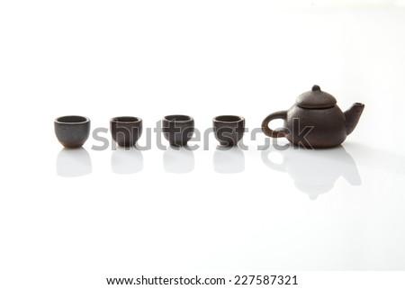 Chinese tea set  - stock photo