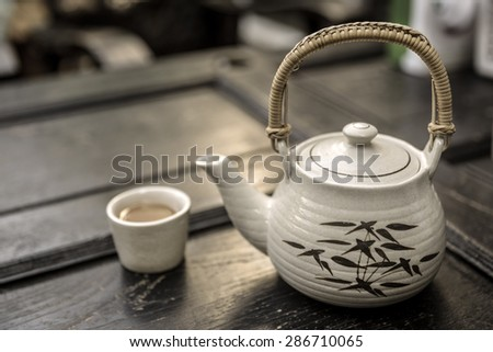 chinese tea time - stock photo