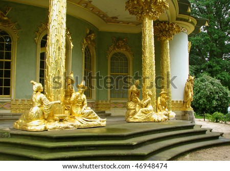 Chinese Teahouse in the Sans Souci park in Potsdam, Germany - stock photo