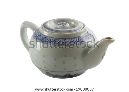 Chinese teapot on isolated background