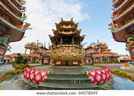 Chinese temple at Chonburi, Thailand