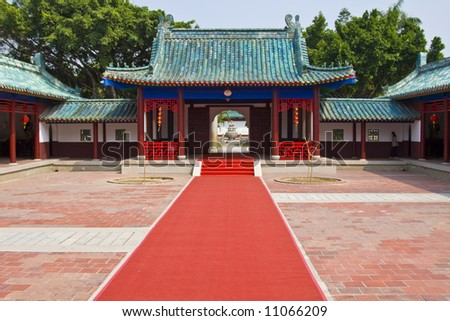 Chinese temple building - stock photo