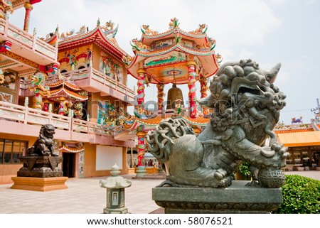 Chinese temple, Chonburi East of Thailand