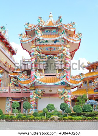 Chinese temple in thailand - stock photo