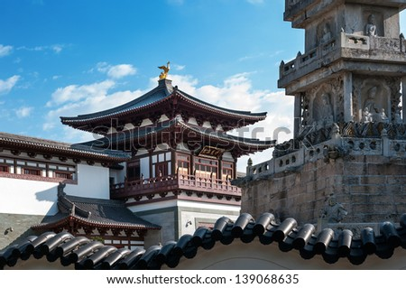 Chinese temple�¯�¼?South Putuo Temple in ningbo, China - stock photo