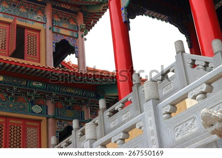 Chinese temple, Thailand - stock photo