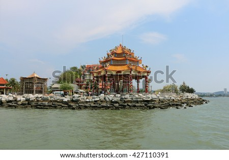 Chinese temples in Thailand. - stock photo