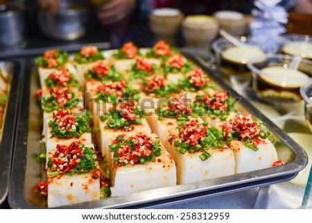 Chinese tofu food - stock photo