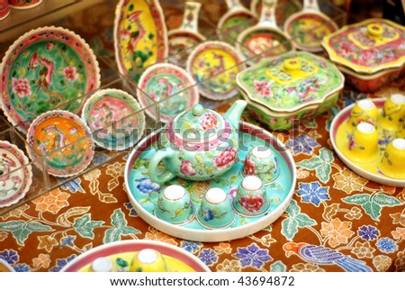 chinese traditional colorful relic