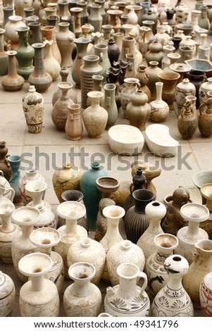 chinese traditional colorful relicï¼?ceramic - stock photo