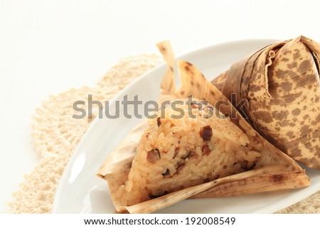 Chinese traditional food, Zongzi  - stock photo