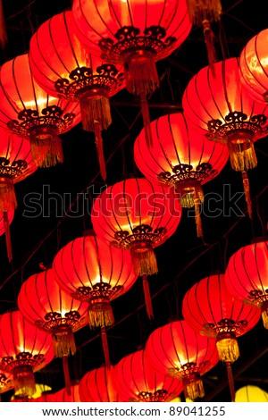 chinese traditional lantern - stock photo
