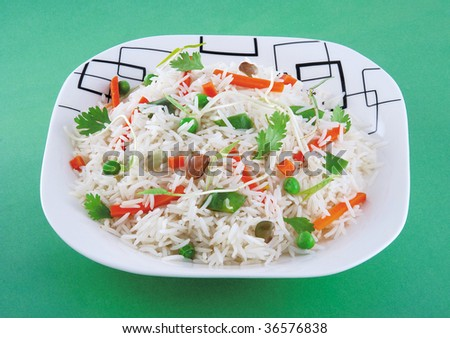 Chinese Vegetable Rice - stock photo