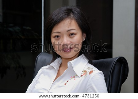 Chinese Woman at the office
