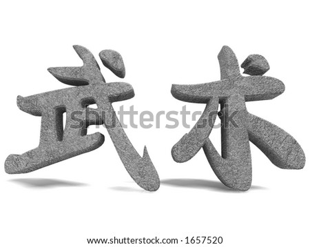 Chinese Word Martial Arts - stock photo