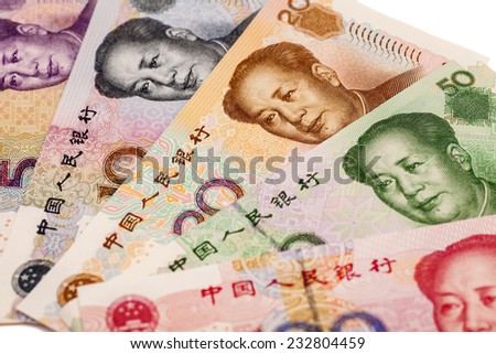 Chinese yuan banknotes - stock photo