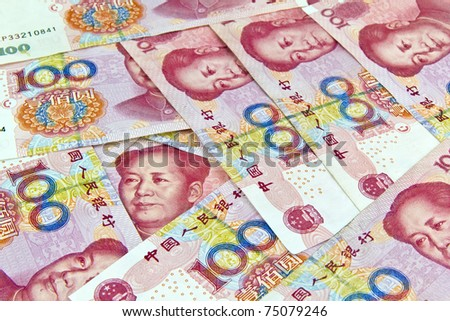 Chinese 100 Yuan paper money