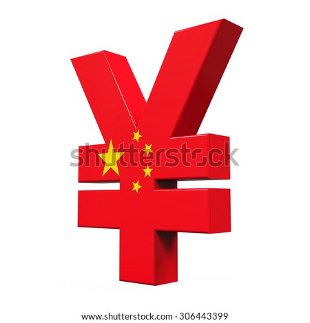 Chinese Yuan Symbol - stock photo