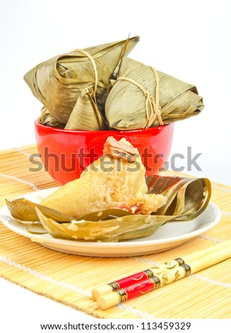 Chinese Zongzi Dragon Boat Festival dumplings - stock photo