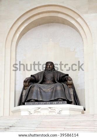 Chingiis Khaan Mongolian Emperor - stock photo
