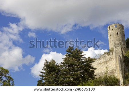 Chinon chateau, Loire Valley, France - stock photo
