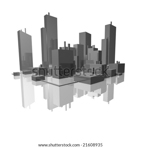 chip city cityscape - stock photo