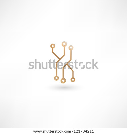 Chip Icon - stock photo
