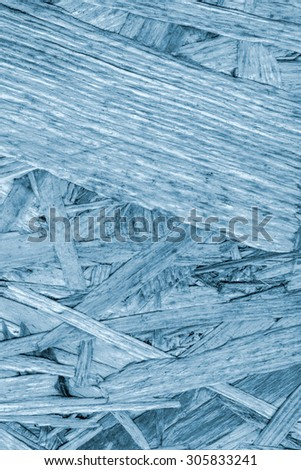 Chipboard Front Side, Bleached and Stained Sky Blue, Rough, Extra Coarse, Grunge Texture Detail. - stock photo
