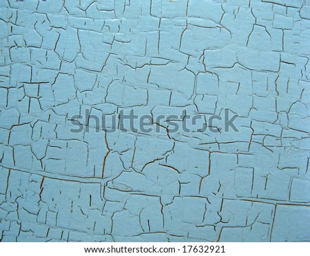 Chipped paint on wood - stock photo