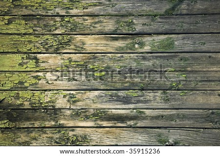 chipped paint wooden surface / abstract grungy background